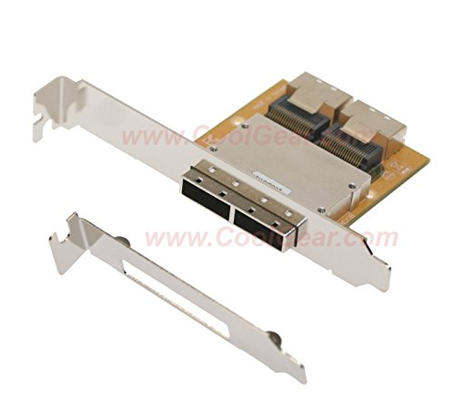 Coolgear ミニ SAS Host PCI Adapter Bracket SFF-8087-SFF-8088 36Hx2-26TX2 (海外取寄せ品)