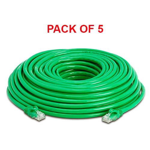 Cmple - Cat6 Ethernet パッチ コー??ド, 75 ft グリーン, ゴールド プレート Contacts Male to Male (5 Pack) (海外取寄せ品)