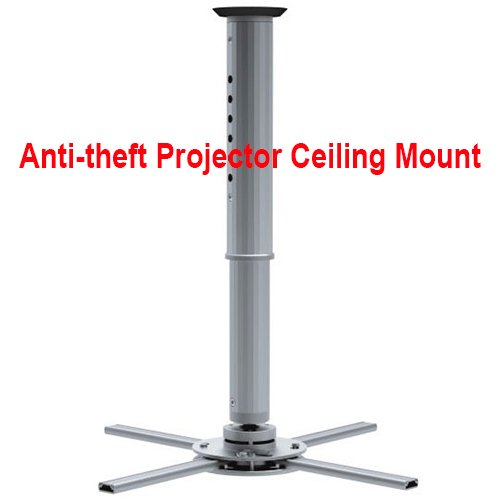 Cmple - Projector Ceiling Mount for DLP / LCD ビデオ プロジェクター - アジャスタブル height up to 23.6'', マックス weight 44 LB, Silve (海外取寄せ品)