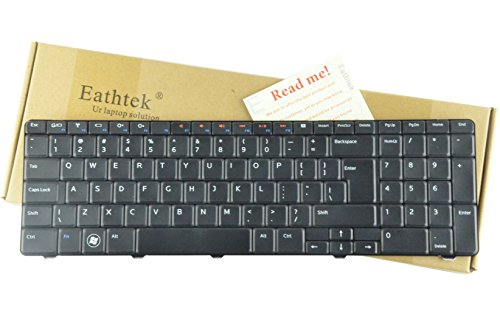 Eathtek リプレイスメント Keyboard for デル Inspiron N7010 series ブラック US Layout, Compatible part ナンバー:8V8RT 08V8RT 9Z.N3E82.B1D (Notes:This keyboard comes with ビッグ Enter) (海外取寄せ品)