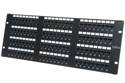 Cat5e パッチ Panel - 96 Port - 4RU, グレート for Office or ホーム Networks, 110 Punchdowns, T568A / T568B Compatible, GUARANTEED for life, フィット 96 Cat5 ケーブル (海外取寄せ品)