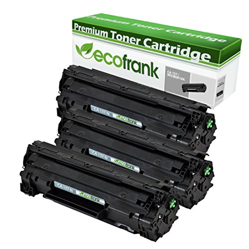 EcoFrank Compatible Toner Cartridge リプレイスメント for Canon 137 9435B001AA (Black, 3-Pack) (海外取寄せ品)