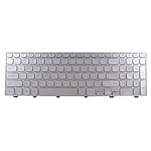 Eathtek リプレイスメント Keyboard with Backlit and フレーム for デル Inspiron 15 7000 15-7000 series シルバー US Layout (Notes: Not フィット for デル 17-7000 17-7737 series!!) (海外取寄せ品)