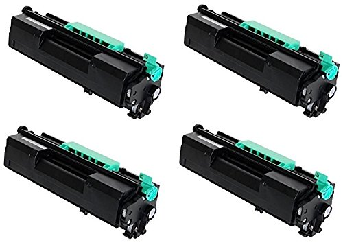 GLB プレミアム クオリティー Compatible リプレイスメント for Ricoh 407316 ブラック Toner Cartridge For SP4510DN SP4510SF Printers(4-Pack) (海外取寄せ品)
