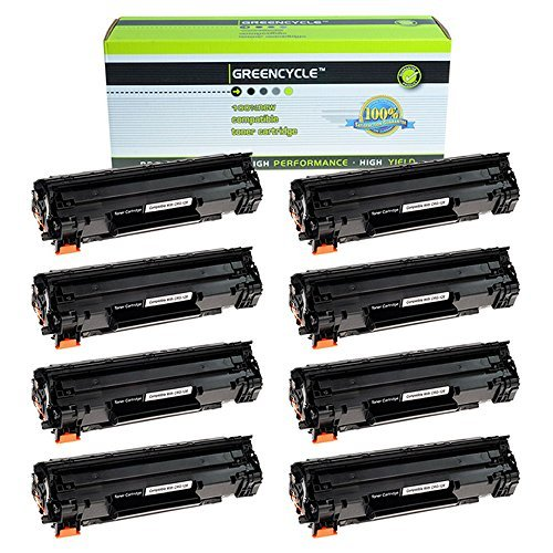 GREENCYCLE 8 PK Compatible Toner Cartridge リプレイスメント for キャノン Canon 128 (3500B001AA) ブラック Toners Compatible With Imageclass D530 MF4580dn MF4412 (海外取寄せ品)