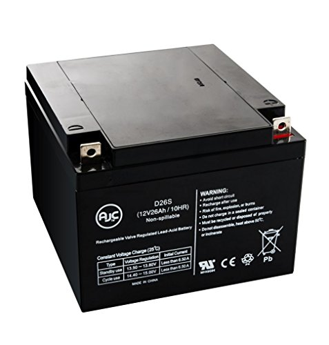 Panasonic LCL 12V24P, LCL12V24P 12V 26Ah UPS バッテリー - This is an AJC ブランド Brand リプレイスメント (海外取寄せ品)