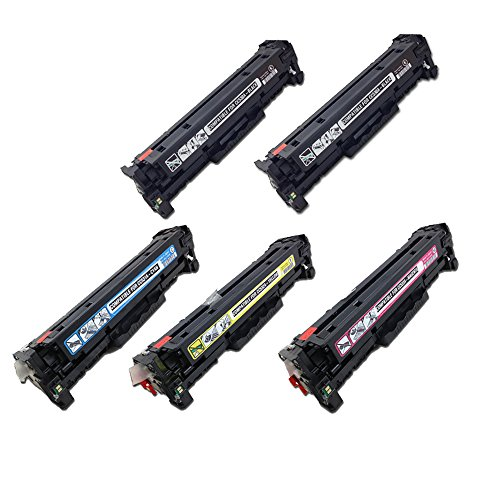 SPEEDY TONER HP 304A Remanufactured Toners Cartridges リプレイスメント for ヒップ カラー LaserJet CP2025, CM2320 - セット of 5, ブラック/シアン/Magenta/イエロー (海外取寄せ品)