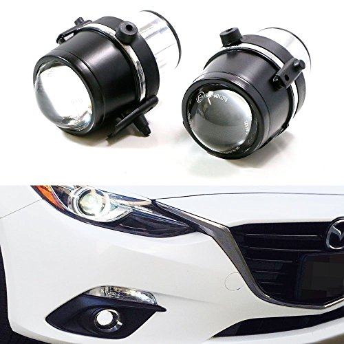 iJDMTOY (2) OEM Replace HID or LED レディー Projector Fog Light ハウジング For Mazda 3 5 6 MX-5 CX-7 (Bulb Not Included) (海外取寄せ品)