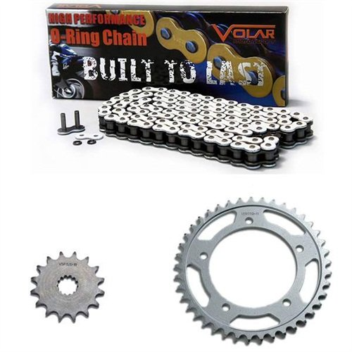 1985-1987 Suzuki GSXR 750 O-リング チェーン and Sprocket キット - ホワイト (海外取寄せ品)