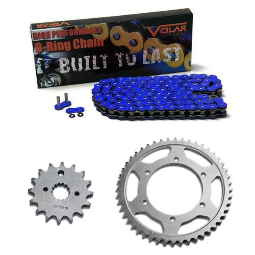2003-2004 Kawasaki ZZR600 O-リング チェーン and Sprocket キット - ブルー (海外取寄せ品)