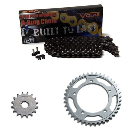 1977-1978 Suzuki GS550 O-リング チェーン and Sprocket キット - ブラック (海外取寄せ品)