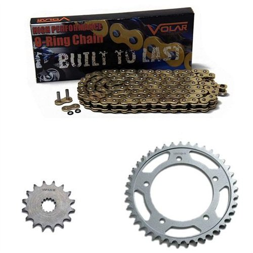 1981-1982 Suzuki GS650 GS650E GS650G GS650GL O-リング チェーン and Sprocket キット ゴールド (海外取寄せ品)