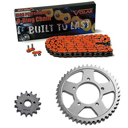 1988-1989 Suzuki GSXR 750 O-リング チェーン and Sprocket キット - オレンジ (海外取寄せ品)