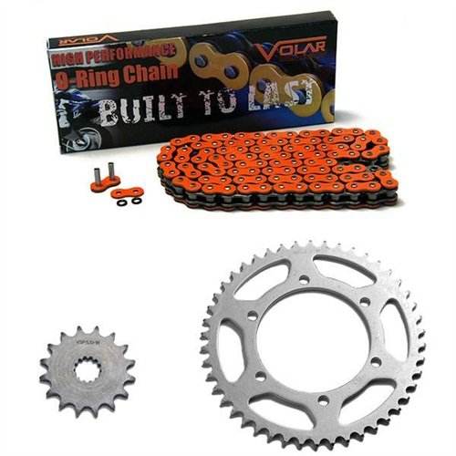 1983-1986 Suzuki GS550 GS550L O-リング チェーン and Sprocket キット - オレンジ (海外取寄せ品)