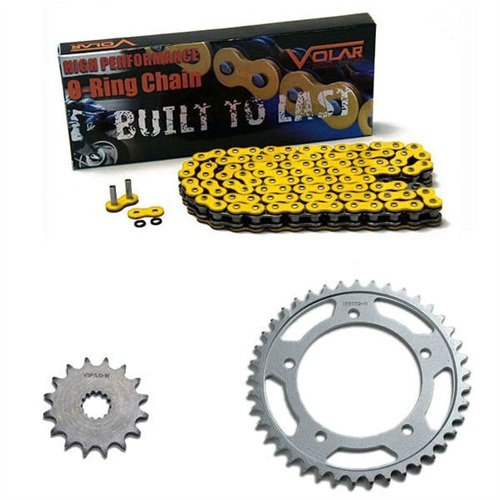 1983-1986 Suzuki GS550 GS550L O-リング チェーン and Sprocket キット - イエロー (海外取寄せ品)