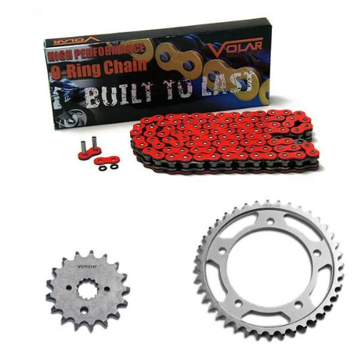 2007-2008 Suzuki GSXR 1000 O-リング チェーン and Sprocket キット - レッド (海外取寄せ品)