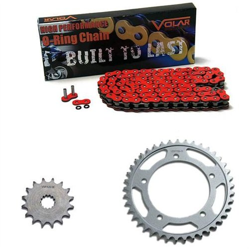 2009-2016 Suzuki GSXR 1000 O-リング チェーン and Sprocket キット - レッド (海外取寄せ品)