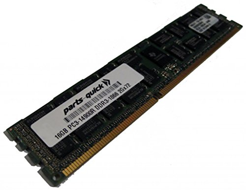16GB メモリ memory Upgrade for SuperMicro SuperServer 2027TR-HTQRF DDR3 PC3-14900 1866 MHz ECC レジスター DIMM RAM (PARTS-クイック BRAND) (海外取寄せ品)