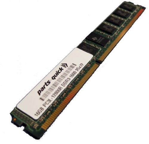 16GB Memory Upgrade Supermicro B9DRP Motherboard DDR3L ECC PC3L-12800 1600MHz 240 ピン レジスター VLP DIMM RAM (PARTS-クイック BRAND) (海外取寄せ品)