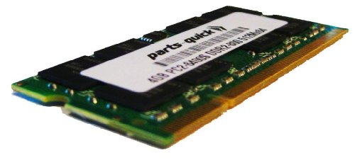 4GB メモリ memory Upgrade for Toshiba Satellite A500 (PSAP3U-0KH00X) Laptop DDR2 PC2-6400 800MHz SODIMM RAM (PARTS-クイック BRAND) (海外取寄せ品)