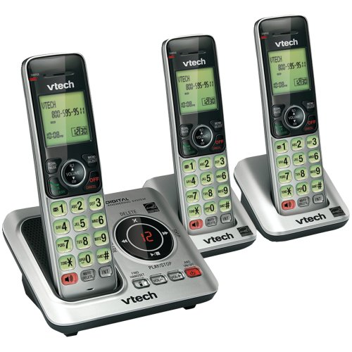 Vtech VTECH VTCS6629-3 DECT 6.0 エクスパンダブル Speakerphone with Caller ID (3-Handset System) 「汎用品」(海外取寄せ品)