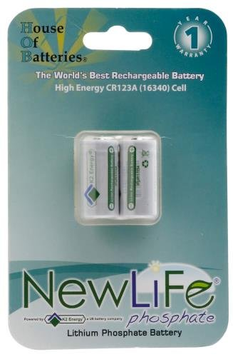 SureFire Lithium-Phosphate 123A Rechargeable Batteries, パック of 2 「汎用品」(海外取寄せ品)