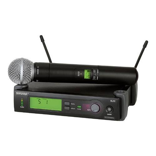 Shure SLX24/BETA58-G4 Wireless Microphone System (G4/470-494 MHz), インクルーズ SLX4 レシーバ, SLX2 ハンドヘルド Transmitter and Beta 58 Microphone 「汎用品」(海外取寄せ品)