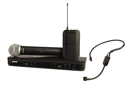Shure BLX1288/P31-H9 Wireless System with PG58 ハンドヘルド and PGA31 ヘッドセット Microphone, H9 「汎用品」(海外取寄せ品)