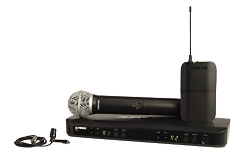 Shure BLX1288/CVL-H9 Wireless System with PG58 ハンドヘルド and CVL Lavalier Microphone, H9 「汎用品」(海外取寄せ品)