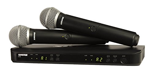 Shure BLX288/PG58-H10 Wireless Vocal コンボ with PG58 ハンドヘルド Microphones, H10 「汎用品」(海外取寄せ品)