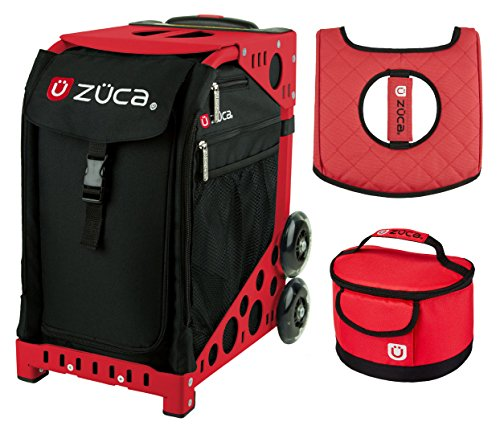 Zuca スポーツ Bag - Obsidian with ギフト Lunchbox and シート カバー (Red Frame) (海外取寄せ品)