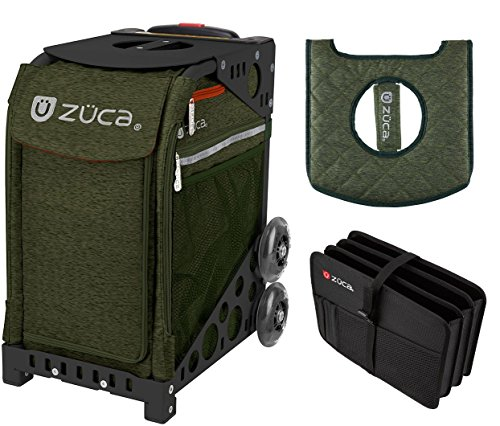 Zuca スポーツ Bag - フォレスト グリーン Bag with Zuca ギフト Document Frame) Organizer and シート カバー (Black Frame) (海外取寄せ品), カンナマチ:e0bfa037 --- reinhekla.no