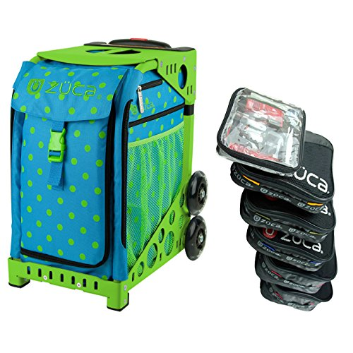Zuca Orbz スポーツ インサート Bag with グリーン フレーム and Special セット of 5 Packing Pouches + Toiletry Bag バンドル (海外取寄せ品)