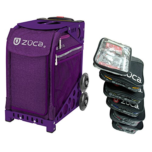 Zuca Cosmic パープル スポーツ インサート Bag with パープル フレーム and Special セット of 5 Packing Pouches + Toiletry Bag バンドル (海外取寄せ品)