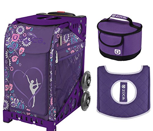 Zuca スポーツ Bag - Gymnast with ギフト Lunchbox and シート カバー (Purple Frame) (海外取寄せ品)
