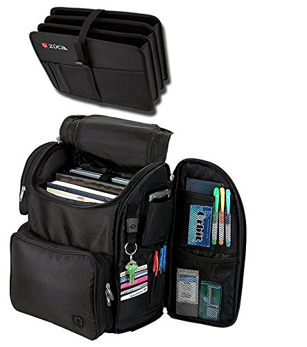 Zuca Business バックパック with プロテクト Laptop Compartment and リムーバブル エクスパディング Document Organizer (Black) (海外取寄せ品)