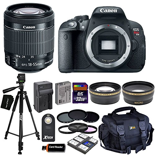 Canon EOS Rebel T5i デジタル SLR Camera with EF-S 18-55mm IS STM レンズ + Tele & ワイド Lenses + ニュートラル Density フィルタ ND2,ND4,ND8 + 15pc 32GB Deluxe アクセサリー キット - International Version 「汎用品」(海外取寄せ品)