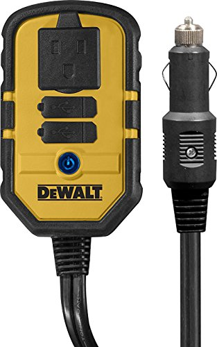 DEWALT DXAEPI140 140W Power Inverter: 12V DC to 120V AC Power Outlet with デュアル USB Ports 「汎用品」(海外取寄せ品)