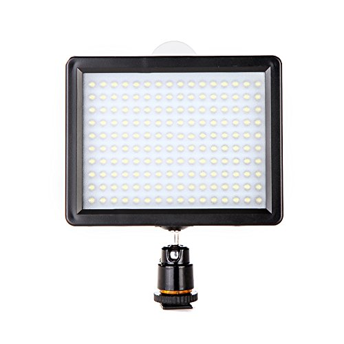 Andoer Photography 160 LED ビデオ Light ランプ Panel 12W 1280LM Dimmable with 2 Filters(white & yellow) for Canon Nikon Pentax DSLR Camera ビデオ Camcorder 「汎用品」(海外取寄せ品)