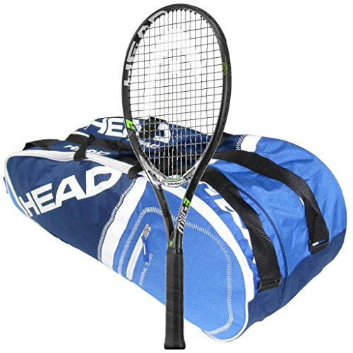 Head MxG 3 テニス Racquet - STRUNG with 6 Racquet Bag (4-3/8) (海外取寄せ品)