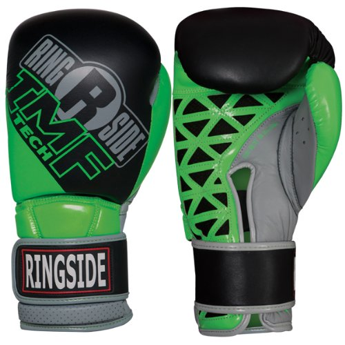 Ringside Youth IMF テク Sparring グローブ, ブラック/Green, 12-Ounce (海外取寄せ品)