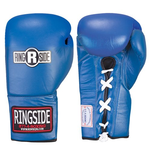 Ringside Competition セーフティー グローブ - レース-Up (Blue, 12-Ounce) (海外取寄せ品)