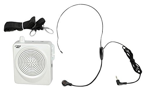 PYLE-プロ PWMA50W 50 ワット Portable ウエスト-バンド Portable PA System with ヘッドセット Microphone, Rechargeable Batteries (White) 「汎用品」(海外取寄せ品)
