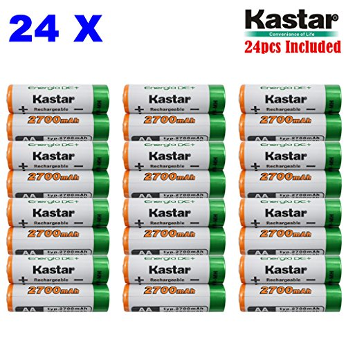 Kastar AA (24-Pack) Ni-MH 2700mAh Super ハイ-Capacity Rechargeable Batteries Pre-charged. 「汎用品」(海外取寄せ品)