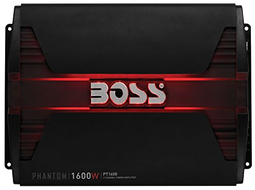 BOSS Audio PT1600 ファントム 1600 ワット, 2 Channel, 2/4 Ohm Stable クラス A/B, Full レンジ, Bridgeable, MOSFET Car Amplifier with Remote Subwoofer Control (海外取寄せ品)