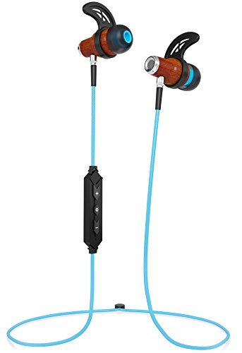 Symphonized NRG 2.0 ブルートゥース Wireless ウッド In-ear Noise-isolating Headphones   Earbuds   Earphones with Mic & Volume Control (Turquoise) 『海外取寄せ品』