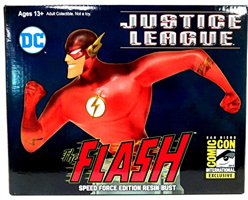 SDCC 2017 Exclusive DC ジャスティス リーグ Justice League アニメイテッド フラッシュ (Speed Force Variant) レジン Bust (海外取寄せ品)
