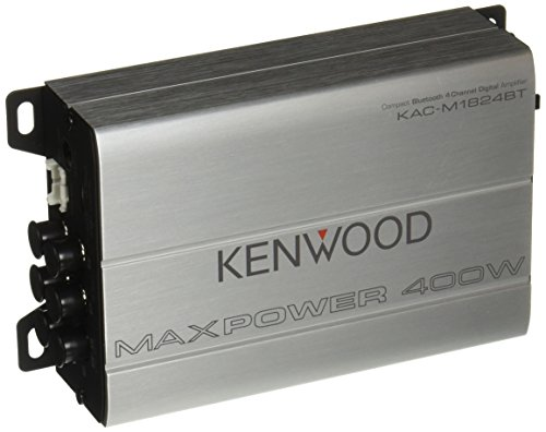 Kenwood 1177524 Compact Automotive/マリーン Amplifier クラス D Kac-M1824BT, 180W RMS, 400W PMPO, 4 Channel (海外取寄せ品)