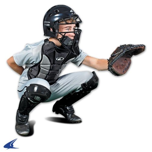 CHAMPRO Youth Catcher's プロテクティブ セット w/HEL-マックス Headgear, Contour フィット チェスト プロテクター & エアー-テク レッグ Guards (Ages 9-12) (海外取寄せ品)