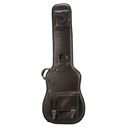 Levy's レザー LM19-DBR レザー Deluxe Bass Guitar Bag, ダーク ブラウン (海外取寄せ品)